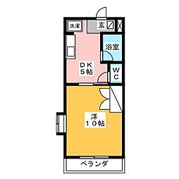 サンパレス木下II[3階]の間取り