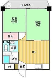 雅陽マンション[203号室]の間取り