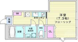 JR仙山線 東北福祉大前駅 徒歩7分の賃貸アパート 1階1Kの間取り