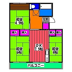 福岡県福岡市博多区諸岡2丁目の賃貸マンションの間取り
