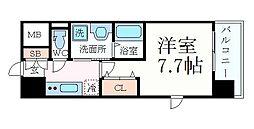 名古屋市営東山線 新栄町駅 徒歩2分の賃貸マンション 4階1Kの間取り