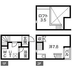 仮称)南区豊田A棟新築アパート(ミナミクトヨダエートウ)[2階]の間取り