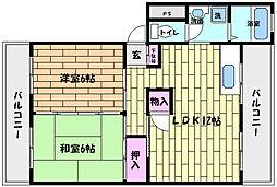 芦屋東山プリンス[4階]の間取り