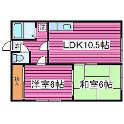 北海道札幌市東区北四十八条東19丁目の賃貸アパートの間取り