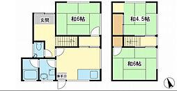 [タウンハウス] 兵庫県姫路市玉手 の賃貸【/】の間取り