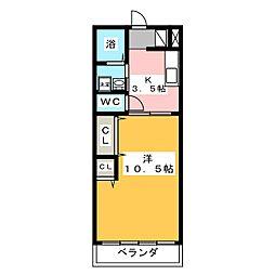 メゾンエリカワ[1階]の間取り