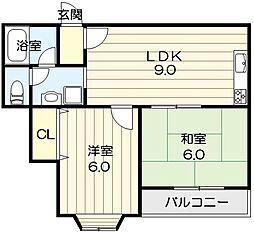日栄3号館[2階]の間取り