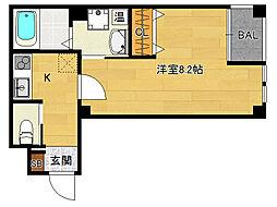 ヴィータ京都西院[406号室]の間取り