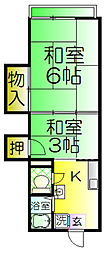 石津マンション[2階]の間取り