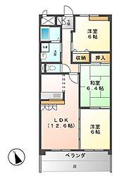 ライファスN水広[1階]の間取り
