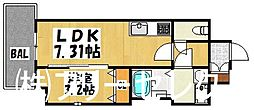 イクシオン美野島[7階]の間取り