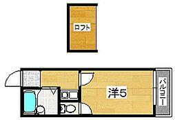 MAYUMIハイツ枚方12番館上島東町[2階]の間取り