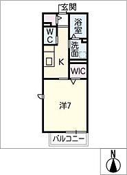 ボヌール B棟[1階]の間取り