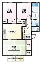 グランヴェルジュA棟[2階]の間取り