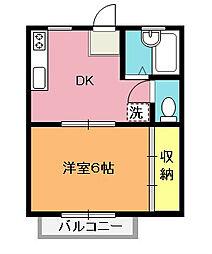 レーベンハウス行田[202号室]の間取り