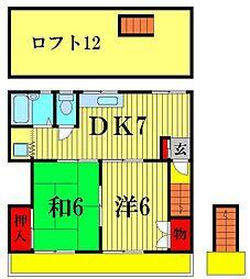 鳥海コーポ[2階]の間取り