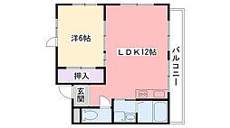 甲子園高田マンション[20号室]の間取り