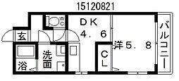 パルオリエント[3階]の間取り