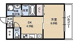 ヒットメゾン大智[4階]の間取り