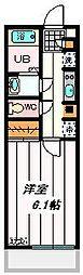 JR埼京線 与野本町駅 徒歩9分の賃貸マンション 1階1Kの間取り