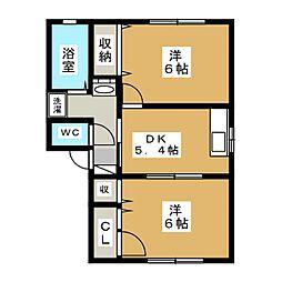 サンフレッチ610 B[2階]の間取り