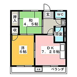 彩喜マンション[1階]の間取り