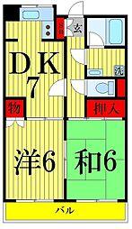 岩崎ビル[603号室]の間取り