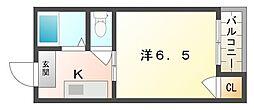 グランヴィア[4階]の間取り