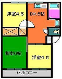 サンハイツI・II[1階]の間取り
