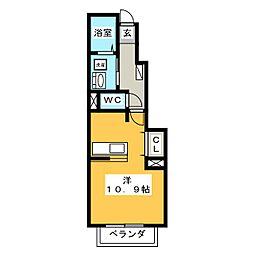 ベル・アンジュ[1階]の間取り