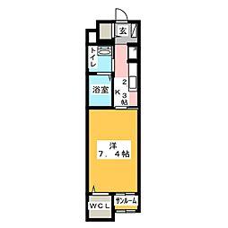 スタジオーネ ソーレ[2階]の間取り