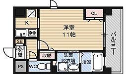 アドバンス新大阪5[13階]の間取り