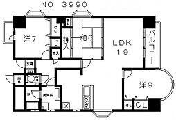 グランピアファーストアベニュー[2階]の間取り