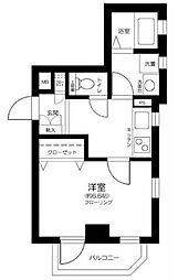 西武池袋線 東長崎駅 徒歩3分の賃貸マンション 1階1Kの間取り