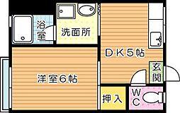 CASA KAORI(カーサカオリ)B棟[1階]の間取り