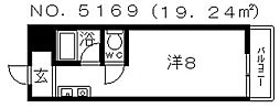 シティアーク天王寺[403号室号室]の間取り