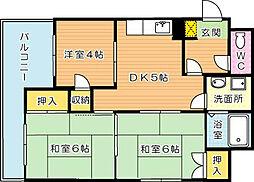 ディアライフ中央[7階]の間取り