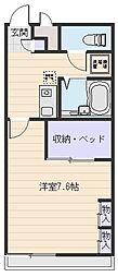 大阪府八尾市渋川町5丁目の賃貸アパートの間取り