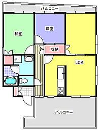 埼玉県北本市北本2丁目の賃貸マンションの間取り