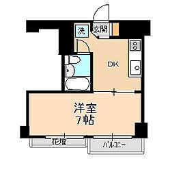 サニー松戸[6階]の間取り