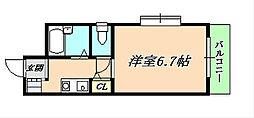 モンテメール仲田[3階]の間取り