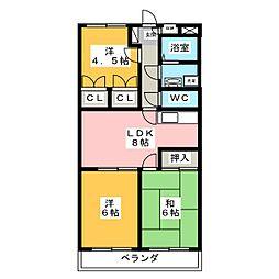 サンクレスト[2階]の間取り