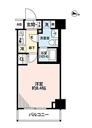 JR京葉線 潮見駅 徒歩5分の賃貸マンション 7階1Kの間取り