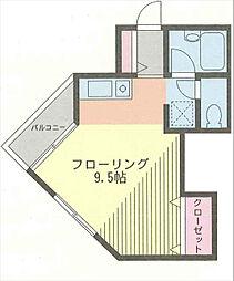 プロスパ藤井[2階]の間取り