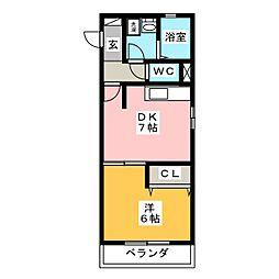 ラ・シャンブル[1階]の間取り