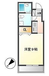 レディース徳川[6階]の間取り
