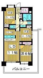 コンフォリア板橋仲宿 13階3LDKの間取り