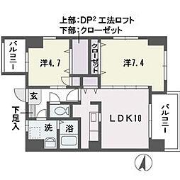 ティサージュ平尾[11階]の間取り
