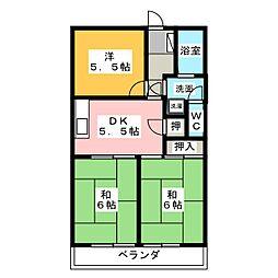 アメニティ88[3階]の間取り