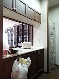 キッチンカウンターにも上下に収納があるのでしっかりとキッチン用品を仕舞えます。(2019年2月15日撮影)